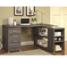 Yvonne Modern Weathered Gray Desk Room