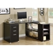 Yvonne Modern Cappuccino Desk with Shelf