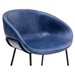 Zach Dark Blue Modern Bar Stool by Euro Style - Seat Detail