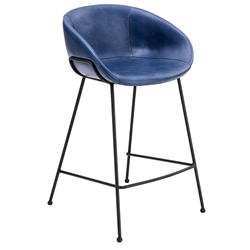 Zach Modern Blue Counter Stool by Euro Style
