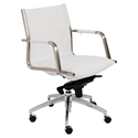Zander Modern White Low Back Office Chair by Euro Style