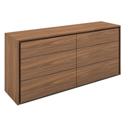 Zane Walnut Wood Modern Dresser