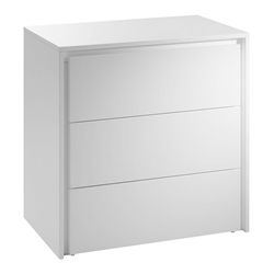 Zane High Gloss White Modern Chest of Drawers