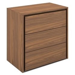 Zane Walnut Wood Tall Modern Chest of Drawers