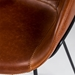 Zed Brown Faux Leather + Black Powder Coated Steel Modern Counter Stool - Seat Side Detail