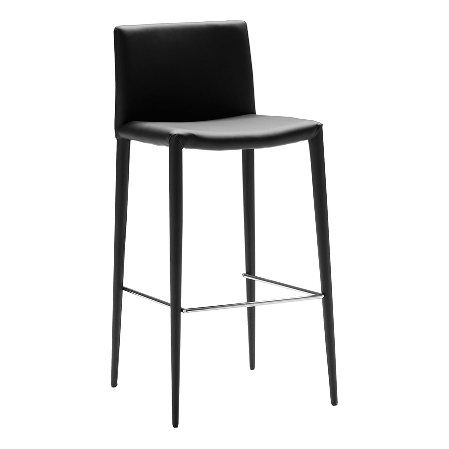 modern barstools zelda black bar stool eurway