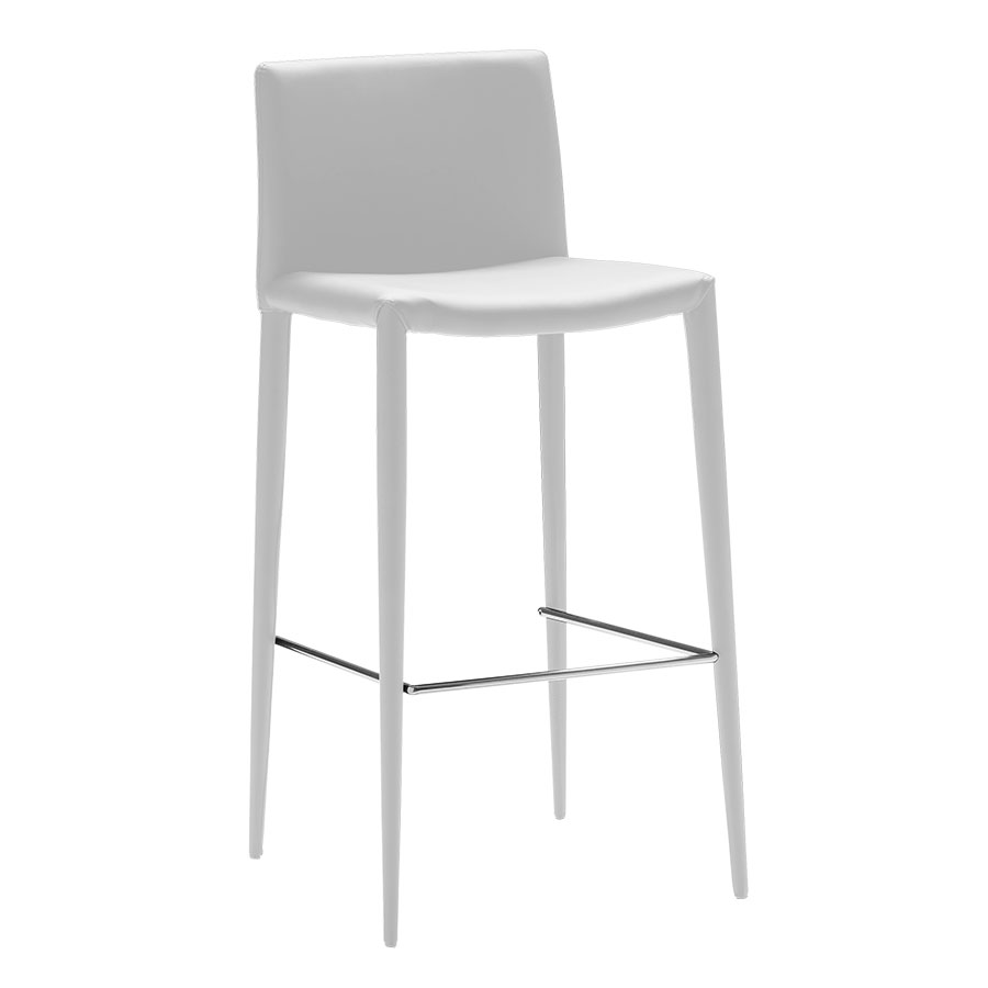 Zelda Modern White Bar Stool
