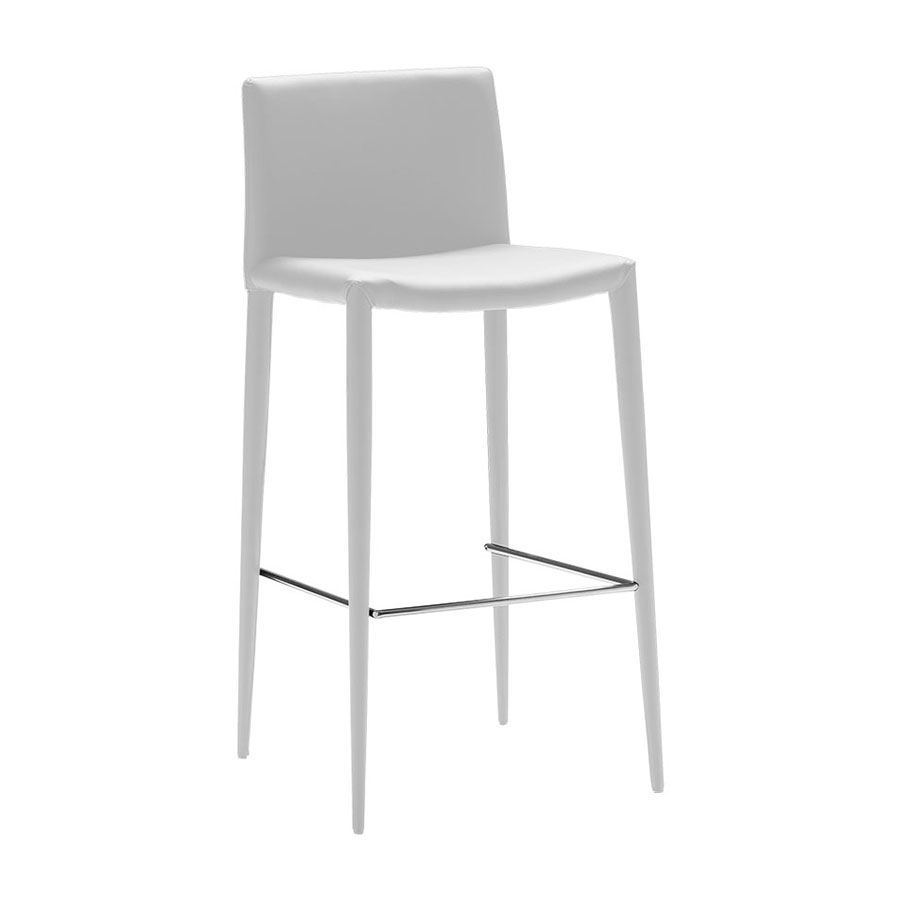 Zelda Modern White Counter Stool