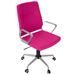 Zeno Pink Fabric + Metal Modern Office Chair