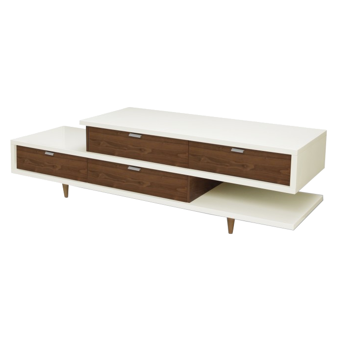 Zick Zack Modern White TV Stand | Eurway Furniture