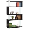 Zig Zag Modern Bookcase in Black