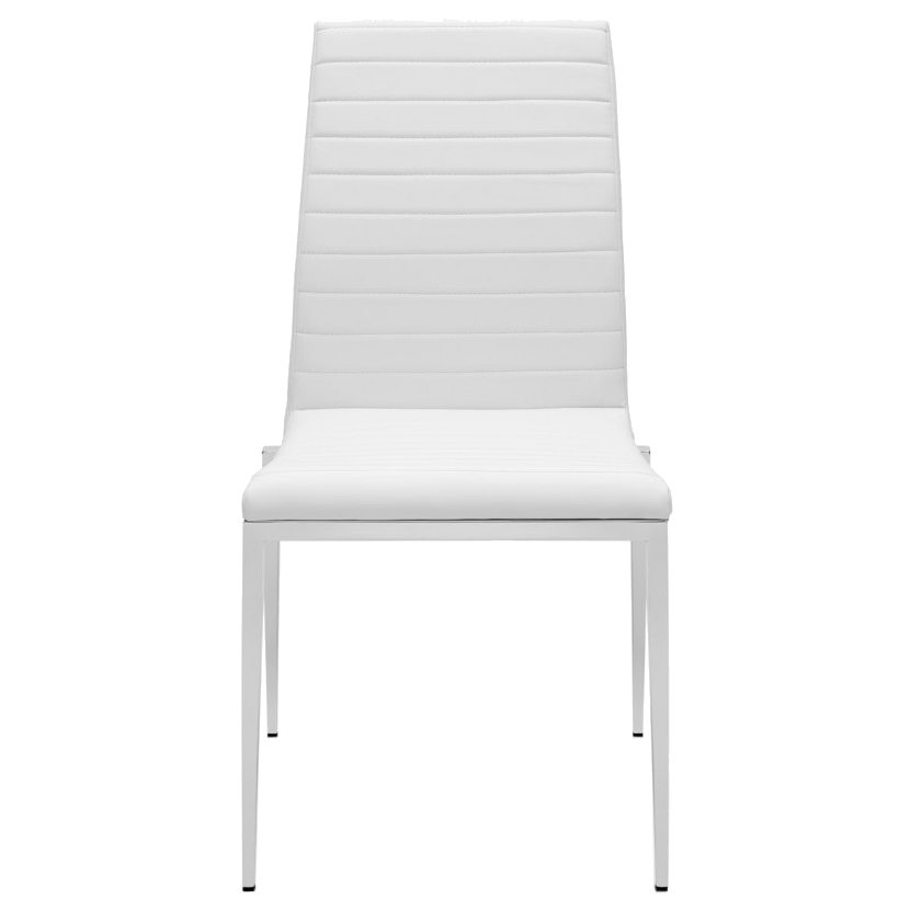 Zoe White Contemporary Dining Chair