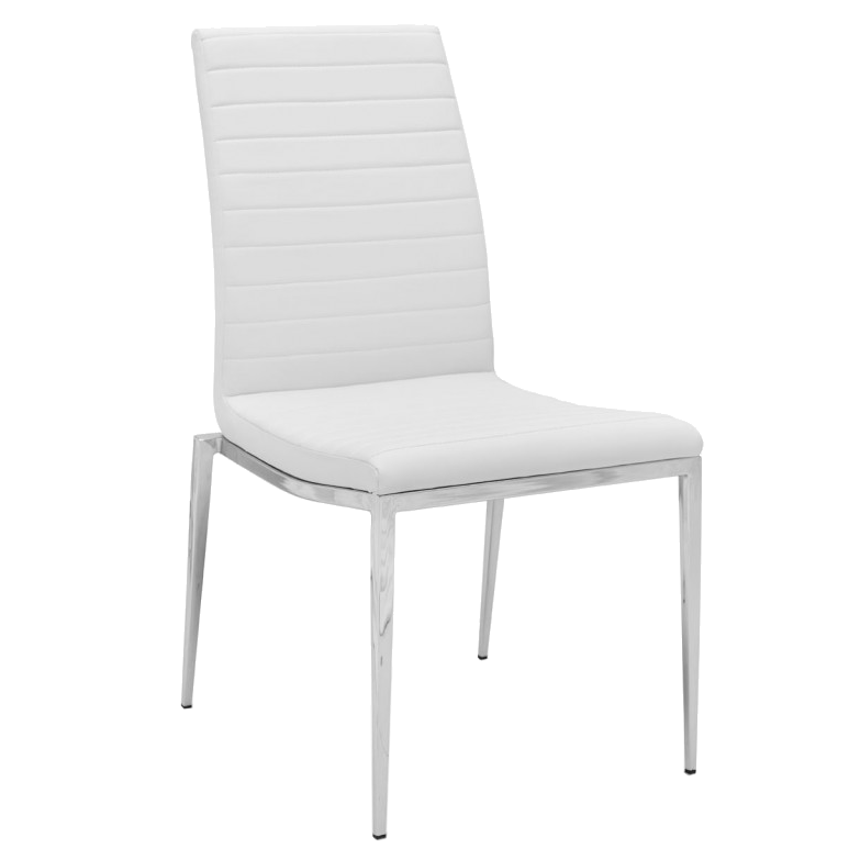 Call To Order Zoe White Modern Dining Chair