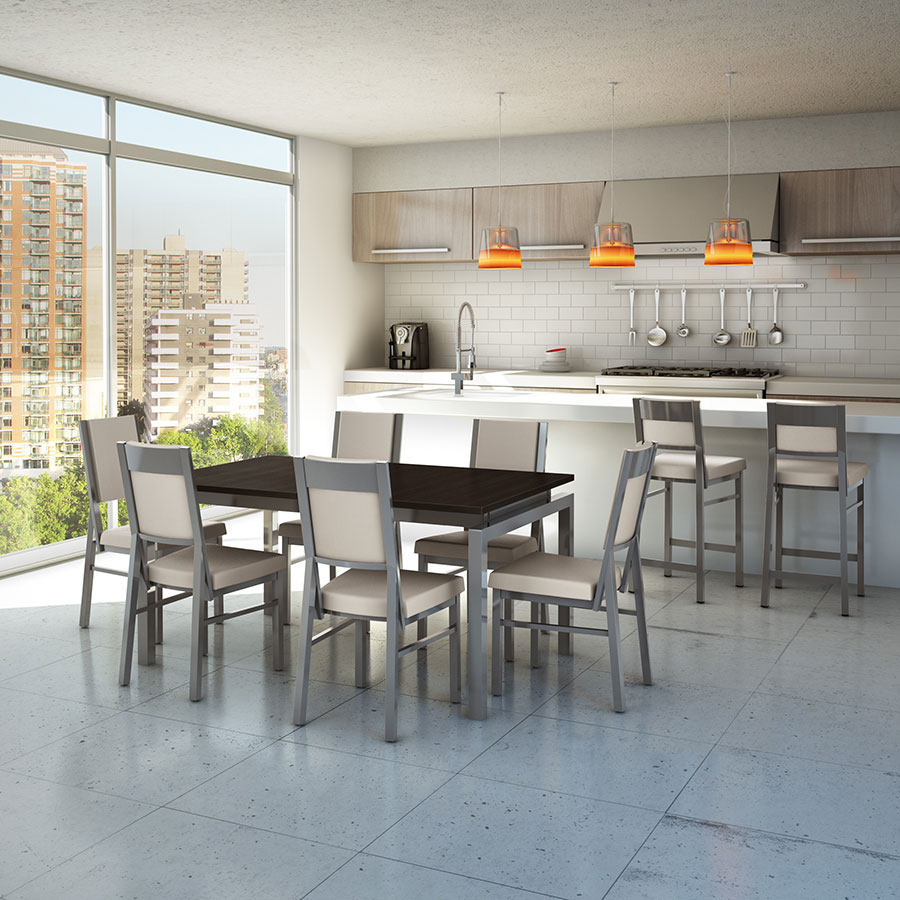Zoom Modern Extension Table Closed by Amisco   Magnetite Choco. Zoom Modern Extension Dining Table by Amisco   Eurway
