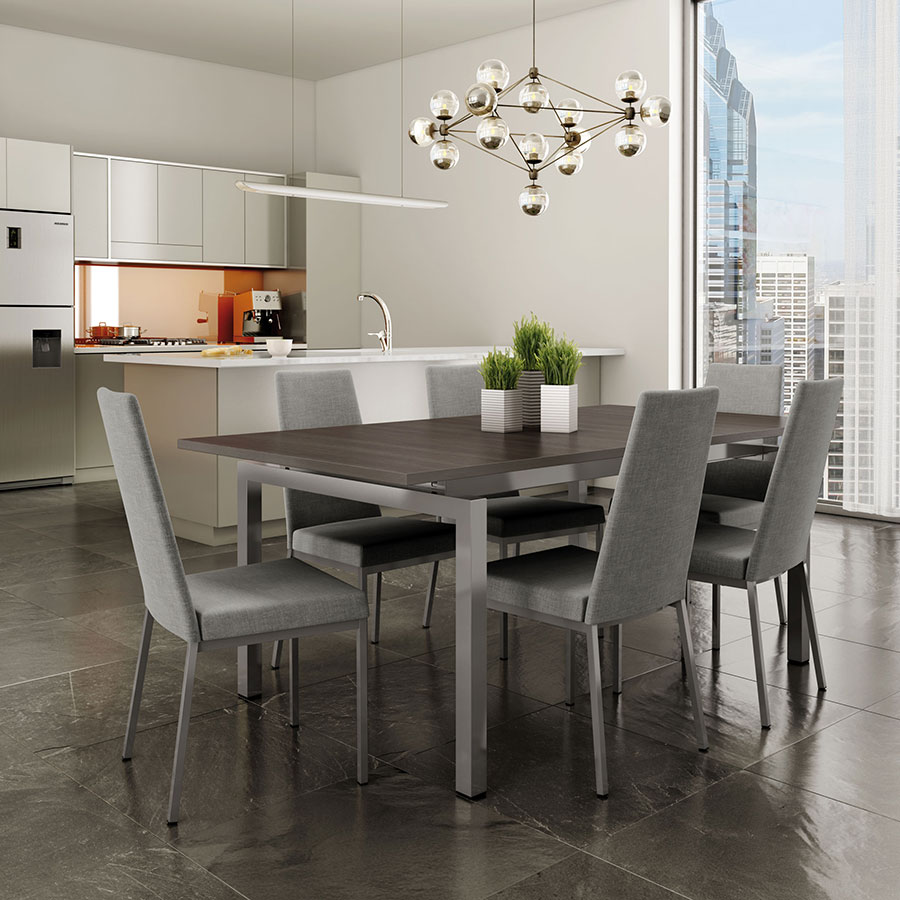 Amisco Zoom Extension Table W Laird Chairs