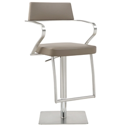 Zuri Modern Taupe Adjustable Stool by Whiteline