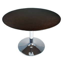 Zurich Modern Dining Table in Dark Chocolate Oak