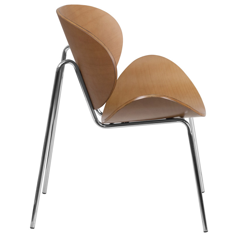 Merveilleux ... Adler Beech Bentwood Modern Chair   Side View ...