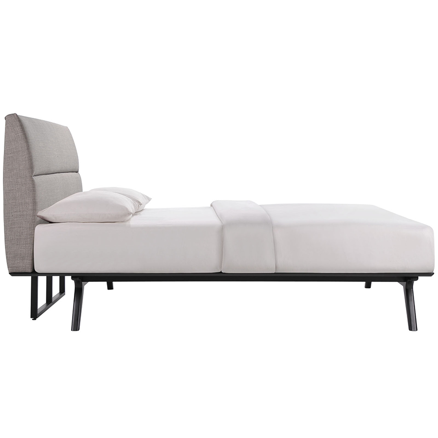 Queen bed side view -  Queen Bed Side View