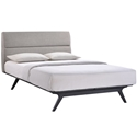 Alberta Gray Modern Queen Bed