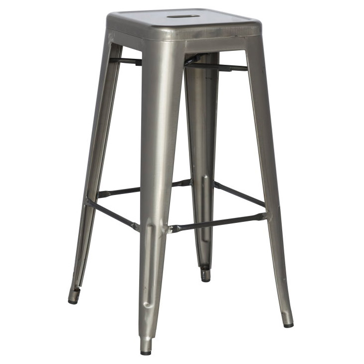 Alfredo Modern Indoor Outdoor Bar Stool in Gun Metal