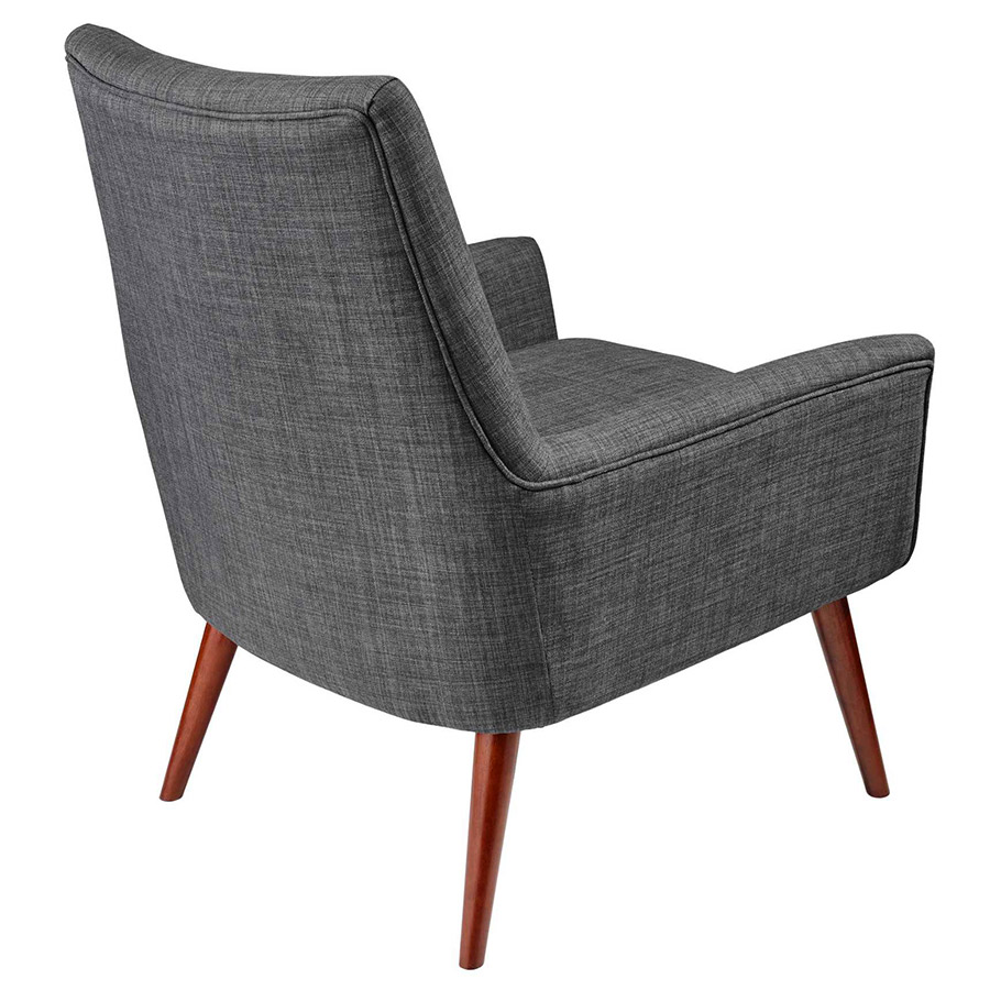 Anderson Modern Charcoal Lounge Chair - Back View