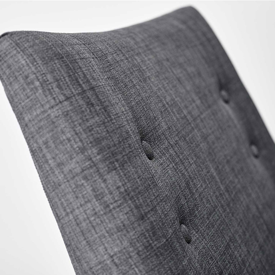 Anderson Charcoal Chair - Button Detail