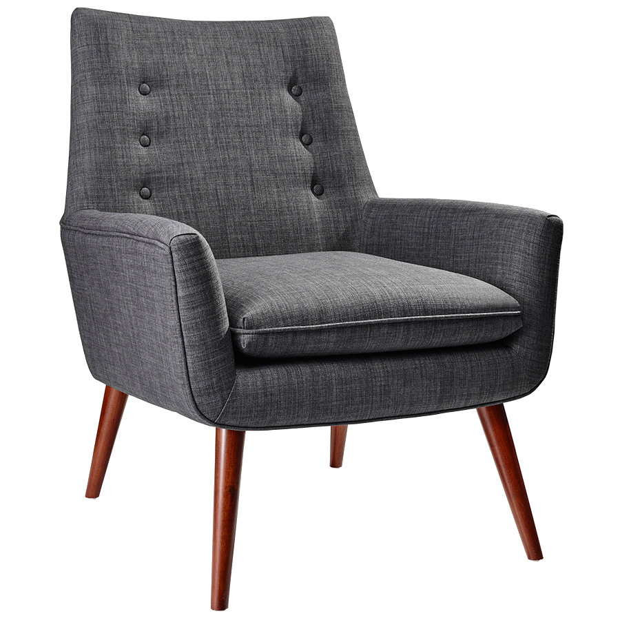 Anderson Modern Lounge Chair in Charcoal