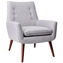 Anderson Modern Lounge Chair in Light Grey