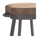 Bareli Bar Stool in Oxidado and Coconut- Close Up