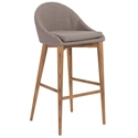 Baruch Modern Gray Bar Stool