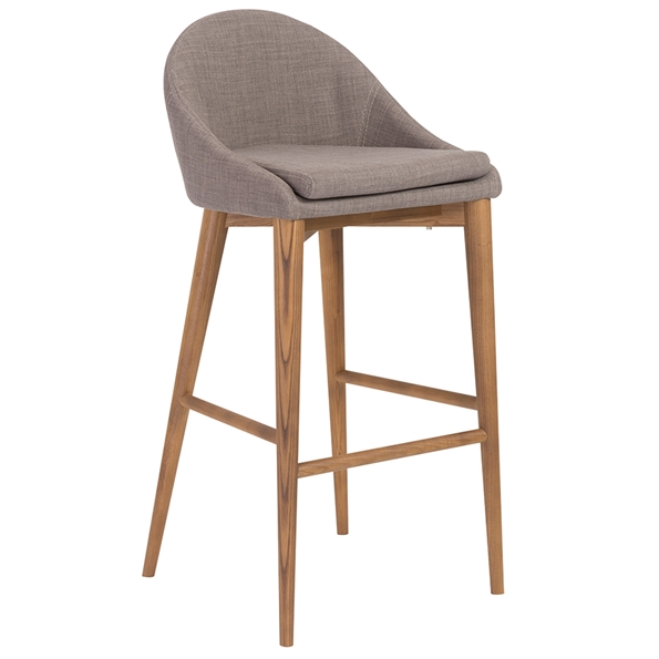 Barrett Modern Gray Bar Stool