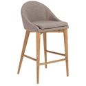 Baruch Modern Gray Counter Stool