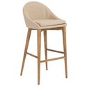 Baruch Modern Tan Bar Stool