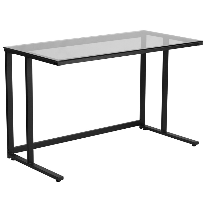 Call To Order Bradshaw Modern Glass Top Desk