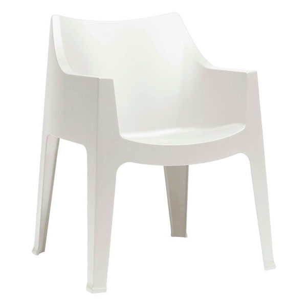 Coccolona Modern Outdoor Chair in White