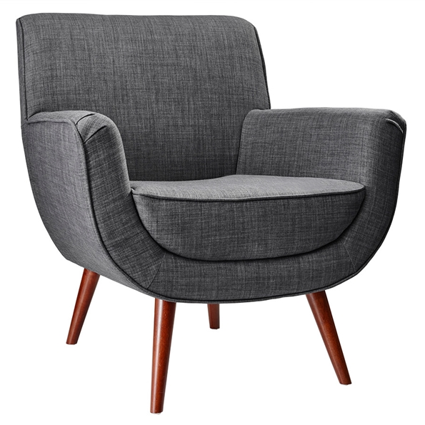 Carson Modern Lounge Chair in Charcoal