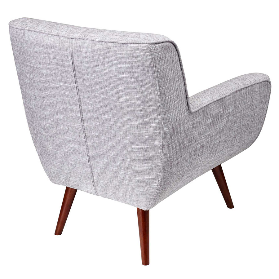 Carson Modern Light Grey Lounge Chair - Back View