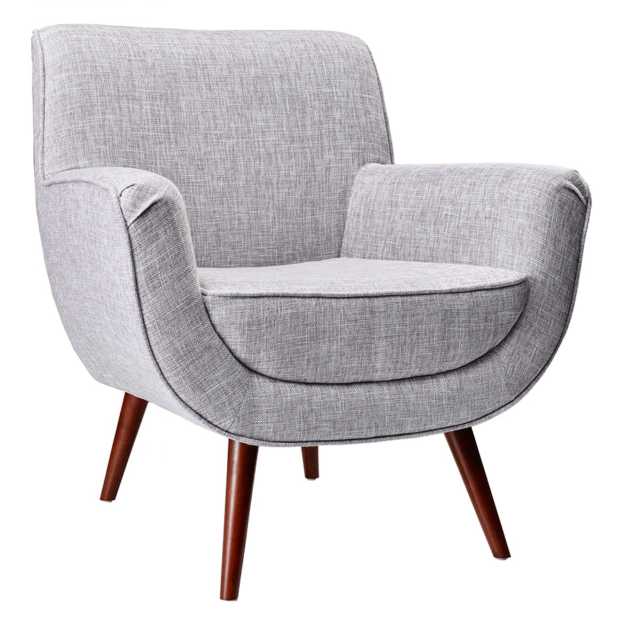 Modern lounge chairs carson light grey chair eurway for Modern armchair