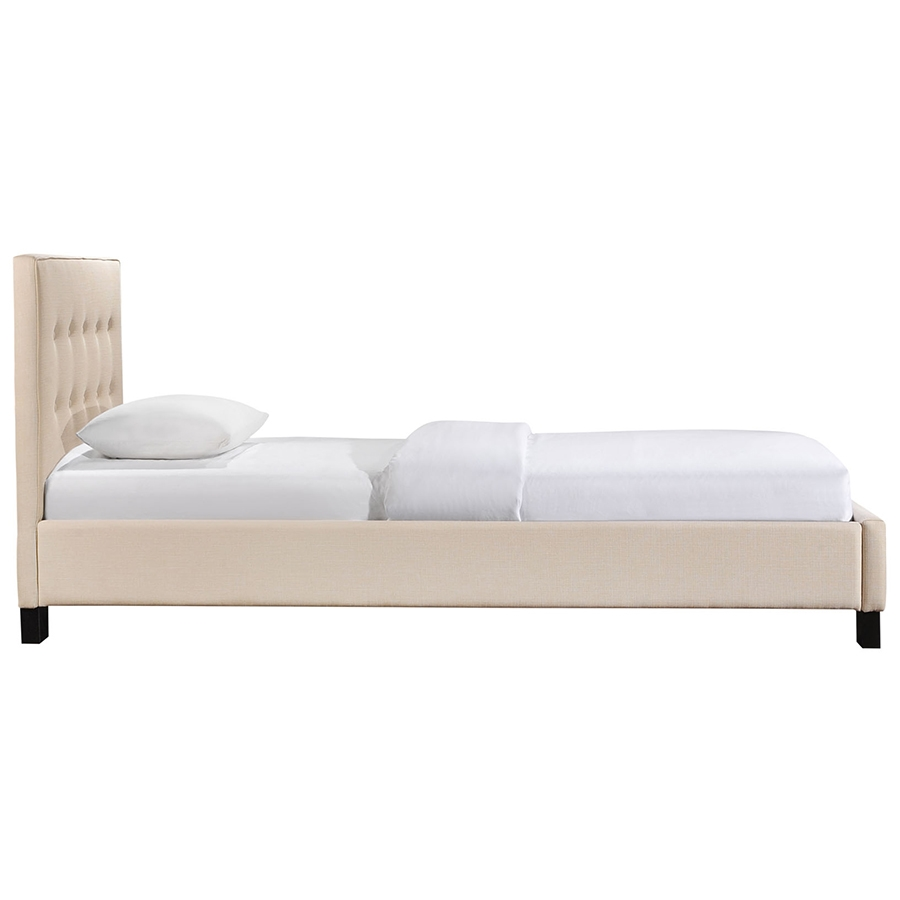 kids bed side view.  Side Carter Beige Modern Twin Bed  Side View Throughout Kids Eurway