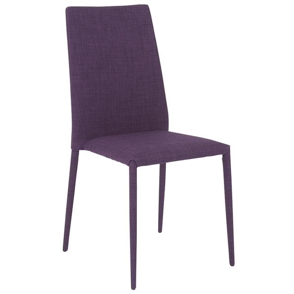 Purple Leather Dining Chairs: Chester Modern Purple Dining Chair