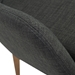 Clayton Contemporary Charcoal Arm Chair - Detail