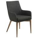 Calais Charcoal Modern Arm Chair
