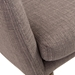 Clayton Contemporary Gray Arm Chair - Detail