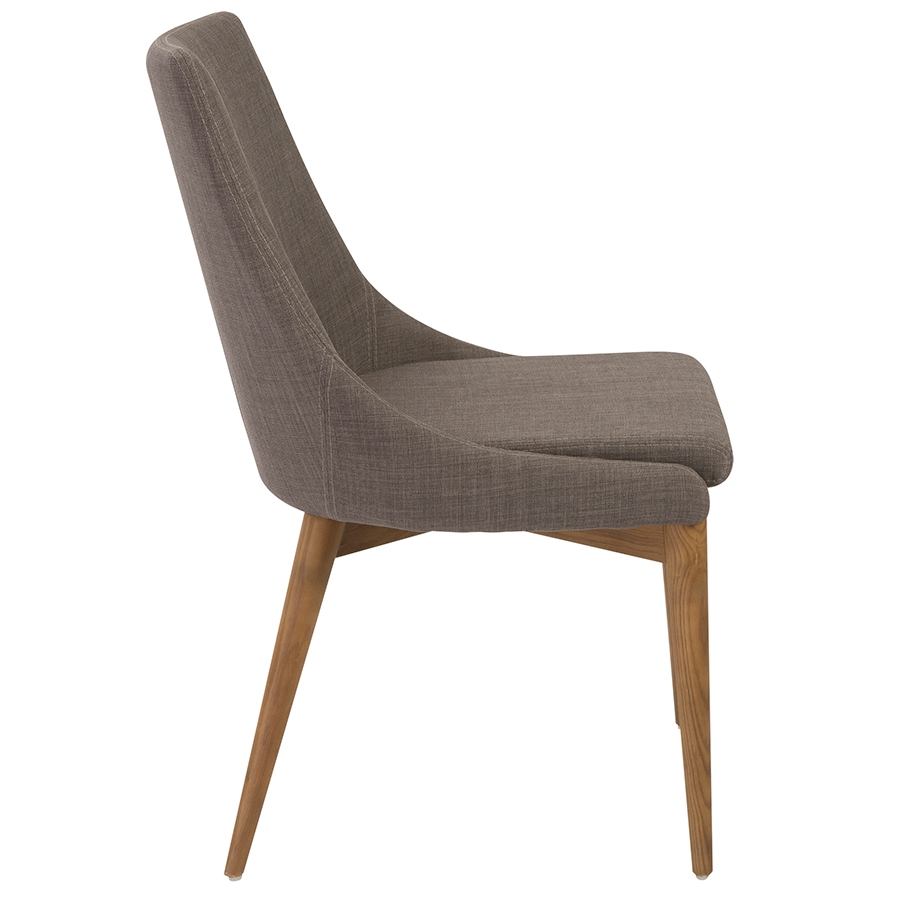 Perfect ... Clayton Gray Modern Side Chair   Side View ...