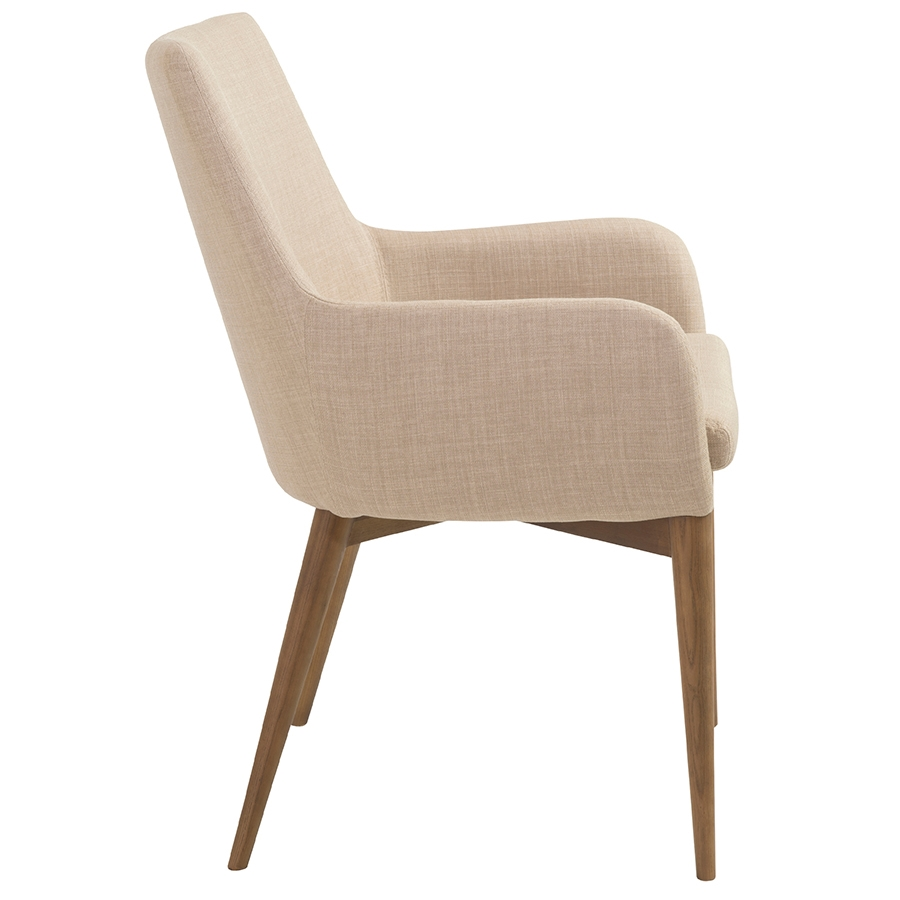 Modern dining chairs clayton tan arm chair eurway for Arm of chair