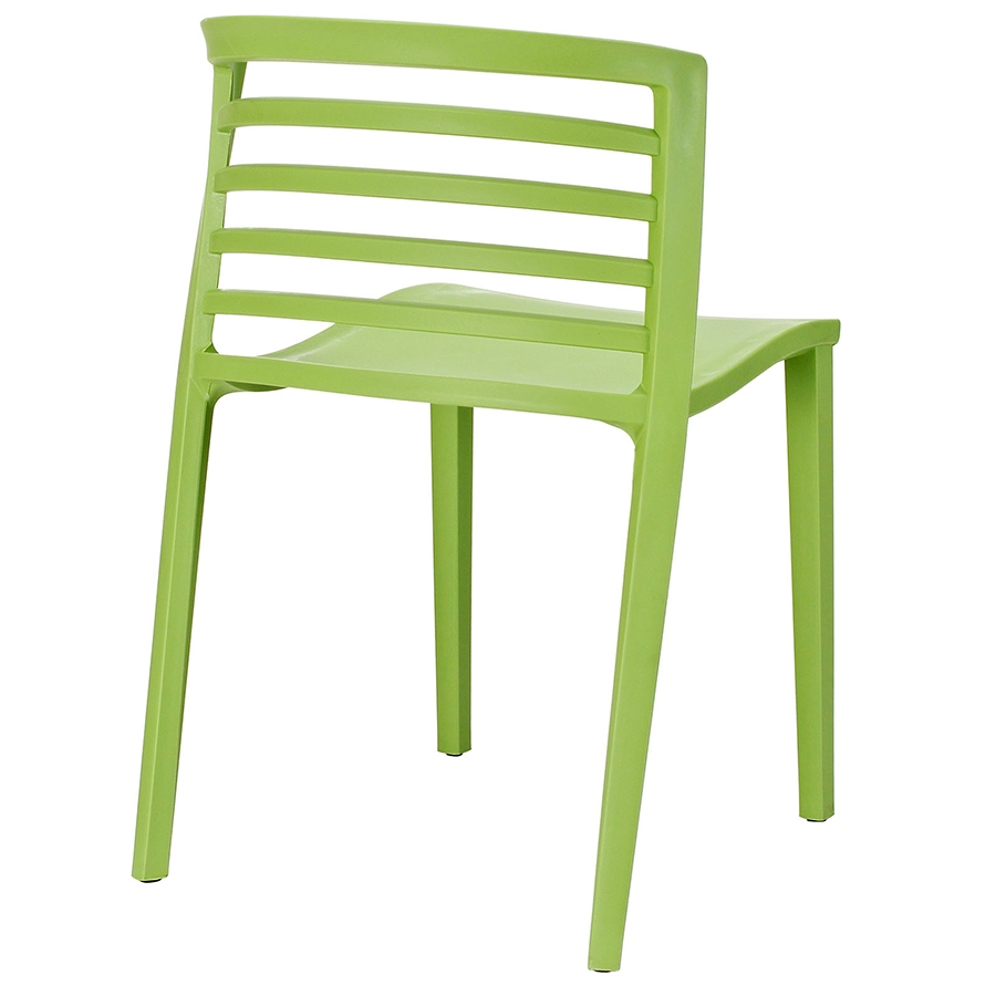 Contour Green Modern Dining Chair - Back View
