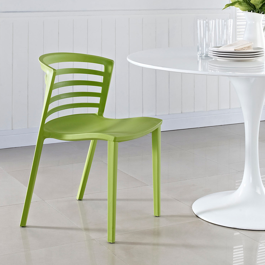 Contour Contemporary Green Dining Chair