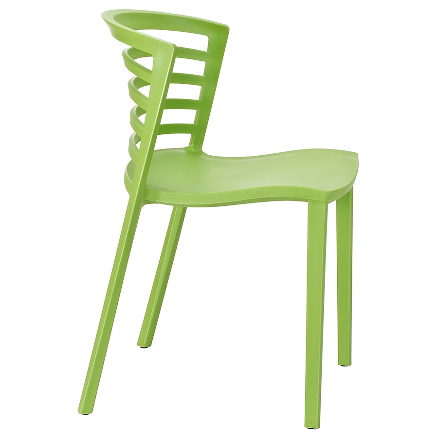 Contour Green Modern Dining Chair Modern Dining Chair - Side View