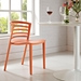 Contour Contemporary Orange Dining Chair